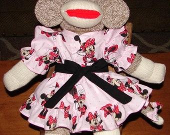 """Sock Monkey, Red Heel Sock Monkey, Stuffed Monkey, Big Sock Monkey,17 """" - 18"""" Sock Monkey, Monkey"""
