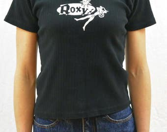Vintage Ribbed Roxy Shirt, Size XS-Small, Surfer, 90's Clothing, Skater, Tumblr Clothes, Grunge