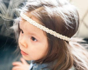 SALE Braided studded Headband / studded Headband / Baby Halo Headband / Newborn Headband /Adult Headband / Boho Headband / Toddler Headband