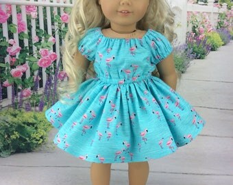 18 inch doll dress to fit american girl size doll. Flamingo dress ag doll clothes