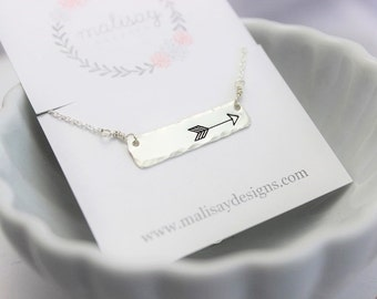 horizontal arrow necklace