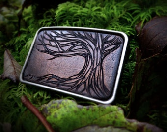 Tree Belt Buckle, Gnarly Tree, Roots, growing, Passion, Life, Anniversary Gift