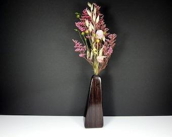 Handcrafted Sculptured Wooden Vase. One-Of-A-Kind Artisan Vase. Weed Pot. Spring Decor. Floral Arrangement. Refined Decor.