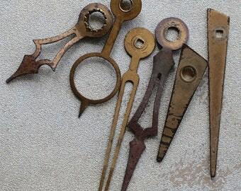 Assorted vintage clock hands -- set 6 -- D9