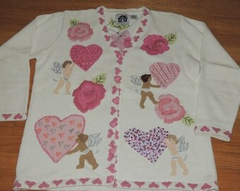 Storybook Knits VALENTINE Sweater L Special Delivery
