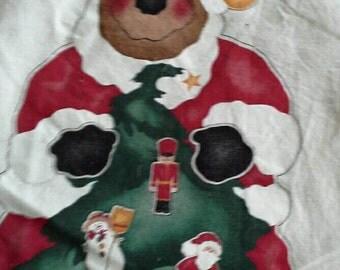 Daisy Kingdom Santa Moose Door Panel Pre Printed Fabric Panel X0684