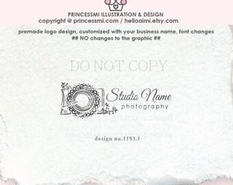 1193-1 Photography logo, Premade Logo Design, Doodle camera logo, photographer logo, camera watermark, business branding