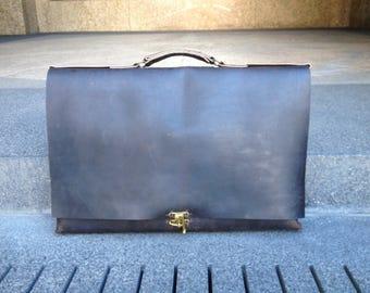 Portfolio carrying case, A3 satchel, Large work bag, Leather portfolio bag, Large leather satchel, Leather attache, 11x17 portfolio case