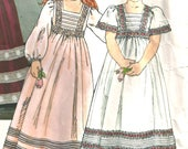 Little Miss Vogue Pattern 1800  Size 3 1980's Vintage Flower Girl Dress, Princess Costume, Girls Long Dress