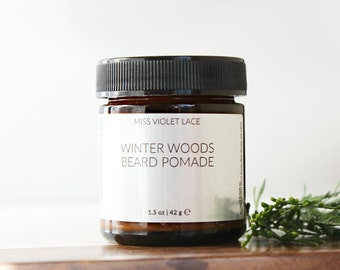 Winter Woods Beard Balm | Conditioning Cream For Facial Hair | 100% natural + vegan