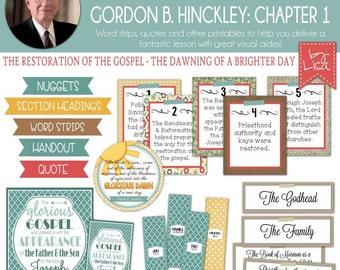 Relief Society Lesson Helps, Gordon B. Hinckley Lesson #1, RS Lesson Aides - Teachings of the Presidents of the Church, PRINTABLE Download