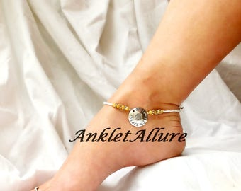 You Are My Sunshine Beach Anklet Sunflower Ankle Bracelet Yellow Anklet Cruise Accessories Body Jewelry Foot Jewelry