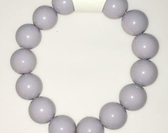 Purple TARDIS stretchy bead bracelet