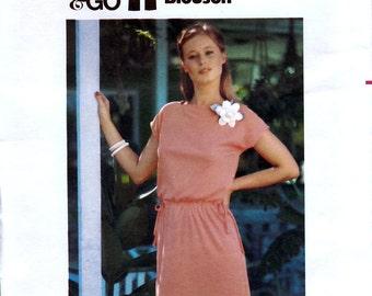 Butterick 5364 Vintage 70s Sewing Pattern for Misses' Dress - Uncut - Size Petite