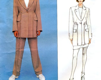 Vogue Paris Original 1482 Sewing Pattern by Montana for Misses' Jacket, Skirt and Pants - Uncut - Size 8, 10, 12