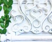 Fleur De Lis Cast Iron Toilet Paper Roll holder , Cast Iron Wall Mounted Toilet Tissue Holder , Shabby White ,European Vintage Design