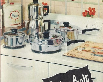 Vintage Kitchen Craft Cookware Care and Cookbook, 1954