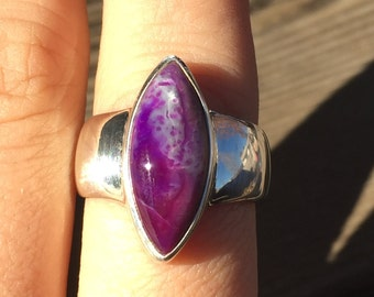 Sugilite Ring - US Size 8.75 - Sterling Silver Jewelry