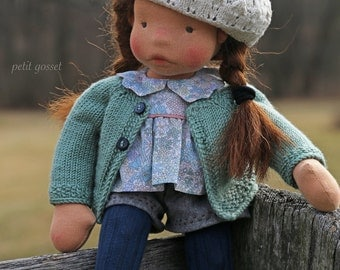 Bijou - a dreamer, Petit Gosset OOAK Natural Fiber Art Doll