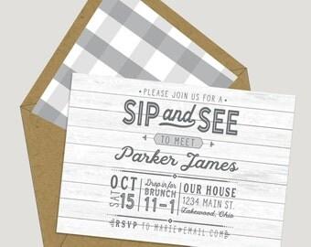 Sip & See Vintage Invitations