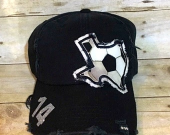 SOCCER TEXAS HAT with number