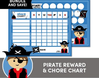 Kids Reward and Chore Chart BUNDLE - Instant Download