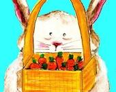 Bunny Hug-ACEO Print