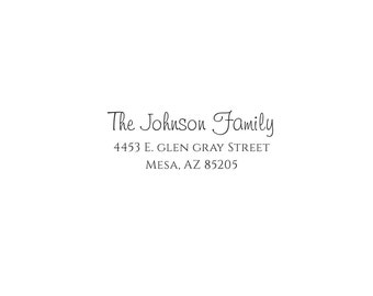 Self Inking or Wood Nautical Personalized Custom Return Address Rubber Stamp Jolly Holidays ...