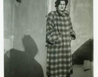 "Vintage Photo ""Not a Morning Person"" Snapshot Antique Photo Old Black & White Photograph Found Paper Ephemera Vernacular - 60"
