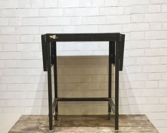 Metal Typewriter Table | Rolling Table | Vintage | Industrial Chic |  Classic Black