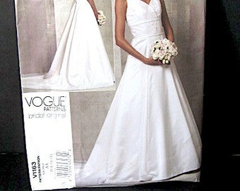 Pattern Vogue Bridal, wedding dress pattern, Vogue wedding pattern, wedding pattern, bridal original dress, designer dress pattern, bridal