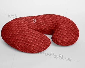 Boppy® Cover, Nursing Pillow Cover - Red Minky Dot or Minky Smooth - Choose Your Minky Type - BC1