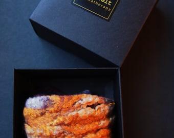 Essential oil diffuser bracelet in a gift box, Aromatherapy bracelet, wool felt silk, purple yellow beige bracelet