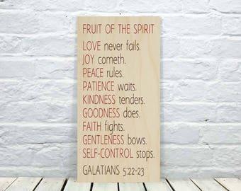 fruit of the spirit, love, Bible Verse Print, Galatians 5 22, wall art, scripture, Love, Joy, Peace, Christian Print, Christian Art
