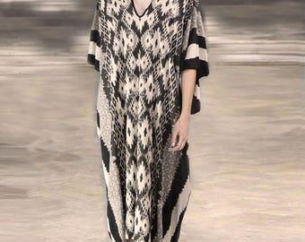 Long Block Printing Kaftan, Maxi dress, Long Elegant kaftan, Kaftan dress, Long dress, tunic, bohemian dress, boho dress, festival dress
