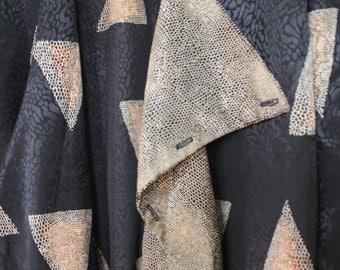 Vintage 80s Triangular/Snake Print Long Jacket S/M