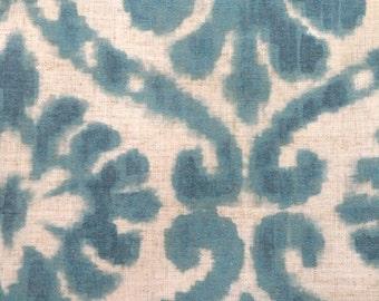 Retired -ETHAN ALLEN Mairi Peacock Colors 87986 Linen Material Make Pillows DIY Cover a Chair
