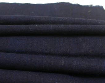 Japanese Indigo Cotton. Artisan Aizome Boro Textile. Blue Vintage Folk Fabric (Ref: 1762)