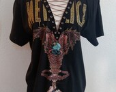 Metallica Laced Up and Chained Rock Metal Band Top T Shirt