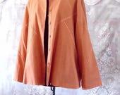 Moving Sale 50% off Plus size Linen jacket. Pastel Orange Boho Jacket #KheGreen