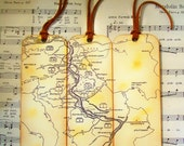 World War 2 Theater Map Bookmarks WWII Battle of the Bulge Gifts for Him Stained Antiqued Map Set of 3 Map Lovers Gifts for Men