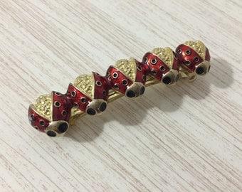 Vintage 90's Enamel Ladybug Barrette