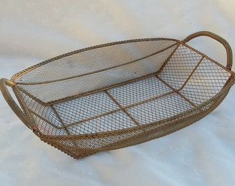 Vintage Wire Basket Wire Mesh Container