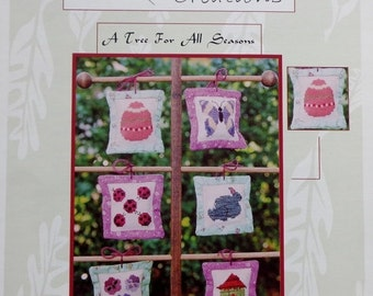 50%OFF Judy Evans Thread Bear Creations A TREE For All Seasons Spring - Counted Cross Stitch Pattern Chart