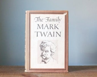Vintage The Family Mark Twain Hardcover Book with Dust Jacket