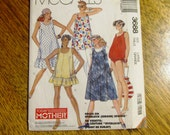 DESIGNER 1980s EASY Pullover A-Line Tent Dress, Pants & Maternity Bathing Suit - Size Large (18 - 20) - UNCUT Sewing Pattern McCalls 3688