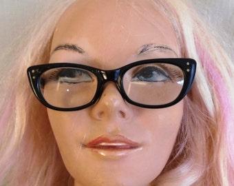 Vintage 1950's Cateye Glasses Wider Shape Vintage Eyeglasses