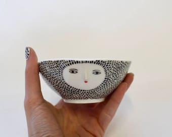 Spotty  porcelain small bowl
