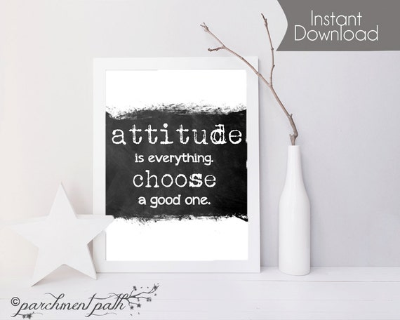 Attitude Is Everything Wall Art Wall Decor Quote