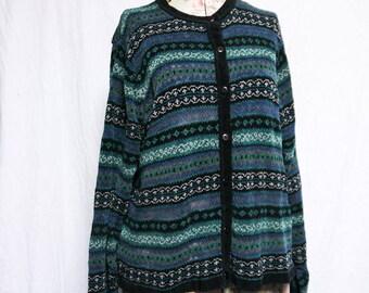cute grunge grandma sweater vintage woven